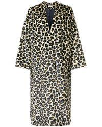 MASSCOB - Long Leopard Print Coat - Lyst