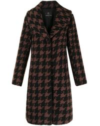 Unreal Fur Manteau Tundra à carreaux - Marron