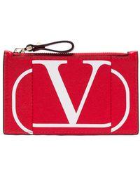 Valentino Garavani Vロゴ カードケース - レッド