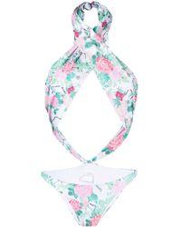 Chiara Ferragni - Floral-print Cut-out Swimsuit - Lyst