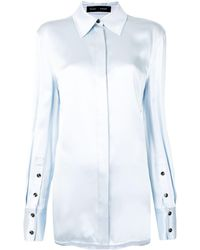 Proenza Schouler Long-sleeve Button-up Shirt - Blue
