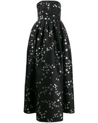 P.A.R.O.S.H. Postard Strapless Evening Gown - Black
