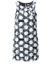 Liu Jo - Polka-dot Fringed Dress - Lyst