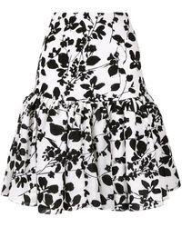 Bambah Seville Velvet Mini Skirt - White