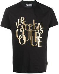 Versace Jeans Couture Футболка С Круглым Вырезом И Логотипом - Черный