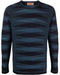 Missoni ストライプ ロングtシャツ - ブルー