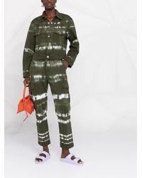 P.A.R.O.S.H. Джинсовая Куртка С Принтом Тай-дай - Зеленый
