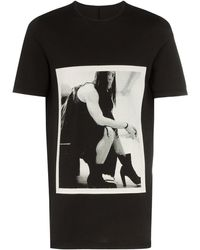 Rick Owens Drkshdw プリント Tシャツ - ブラック