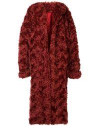 Rosie Assoulin - Faux Fur Oversized Coat - Lyst