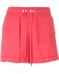 Blumarine - Shorts con cordón - Lyst