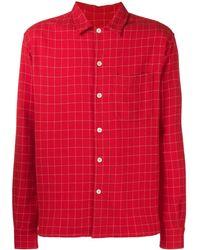 AMI キャンプカラー オーバーシャツ - レッド