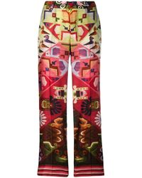 F.R.S For Restless Sleepers Aztec Printed Trousers - Red