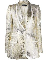 Dolce & Gabbana メタリック ジャケット