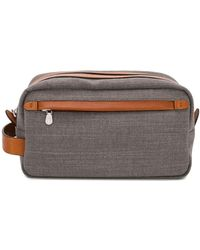 Brunello Cucinelli Zip-up Wash Bag - Grey