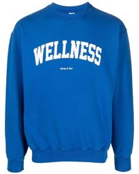 Sporty & Rich Felpa Wellness con stampa - Blu