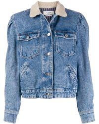 Étoile Isabel Marant Veste en jean à col texturé - Bleu