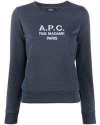 A.P.C. ロゴ スウェットシャツ - ブルー