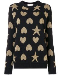 Gucci - Contrast Shape Knitted Jumper - Lyst