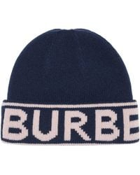 Burberry カシミア ビーニー - ブルー