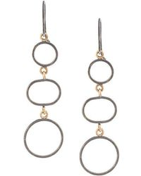 Melissa Joy Manning - Three Circle Drop Earrings - Lyst