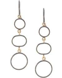 Melissa Joy Manning | Three Circle Drop Earrings | Lyst