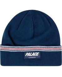Palace ストライプ ビーニー - ブルー