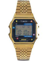 Timex Reloj T80 de 34mm de x Pac-Man - Metálico