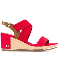 Tommy Hilfiger Th Monogram Sandals - Red