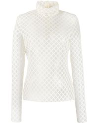 Philosophy Di Lorenzo Serafini Perforated Knit Blouse - White