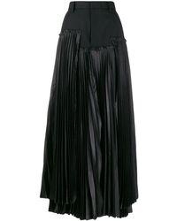 Comme des Garçons アシンメトリープリーツ スカート - ブラック