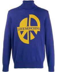 Love Moschino インターシャ セーター - ブルー