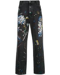Simon Miller Jeans Met Verfspetters - Zwart