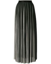 Karl Lagerfeld Pleated Maxi Skirt - Black
