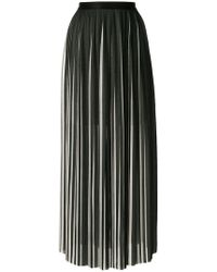 Karl Lagerfeld - Pleated Maxi Skirt - Lyst