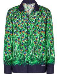 Dolce & Gabbana Camicia con stampa - Verde