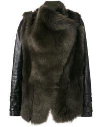 Plein Sud - Panelled Fur Jacket - Lyst