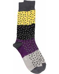 Paul Smith Socken mit Blockstreifen - Grau