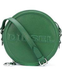 DIESEL Embossed Logo Round Crossbody Bag - Green