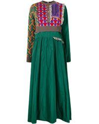 Kolor ニットパネル ドレス - グリーン