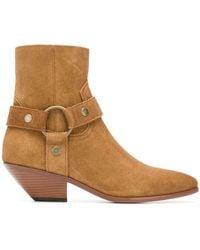 Saint Laurent - West Harness Boots - Lyst