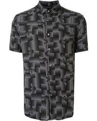 Emporio Armani Camisa con estampado gráfico - Negro