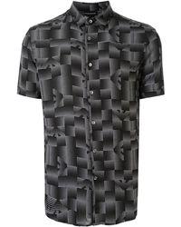 Emporio Armani Graphic Print Shirt - Black