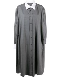 Maison Margiela オーバーサイズ シャツドレス - グレー