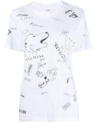 Étoile Isabel Marant プリント Tシャツ - ホワイト