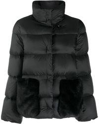 Fay Стеганая Куртка С Карманами Из Искусственного Меха - Черный