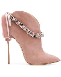 Casadei - Chain Embellished Boots - Lyst