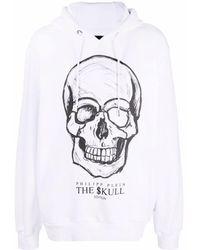Philipp Plein Худи С Принтом The Skull - Белый