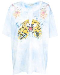 Amen - Tie-dye Embroidered T-shirt - Lyst