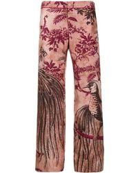 F.R.S For Restless Sleepers Pantalones estampados en jacquard - Rosa
