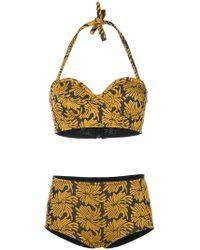 Maison Margiela Floral Bikini Set - Yellow